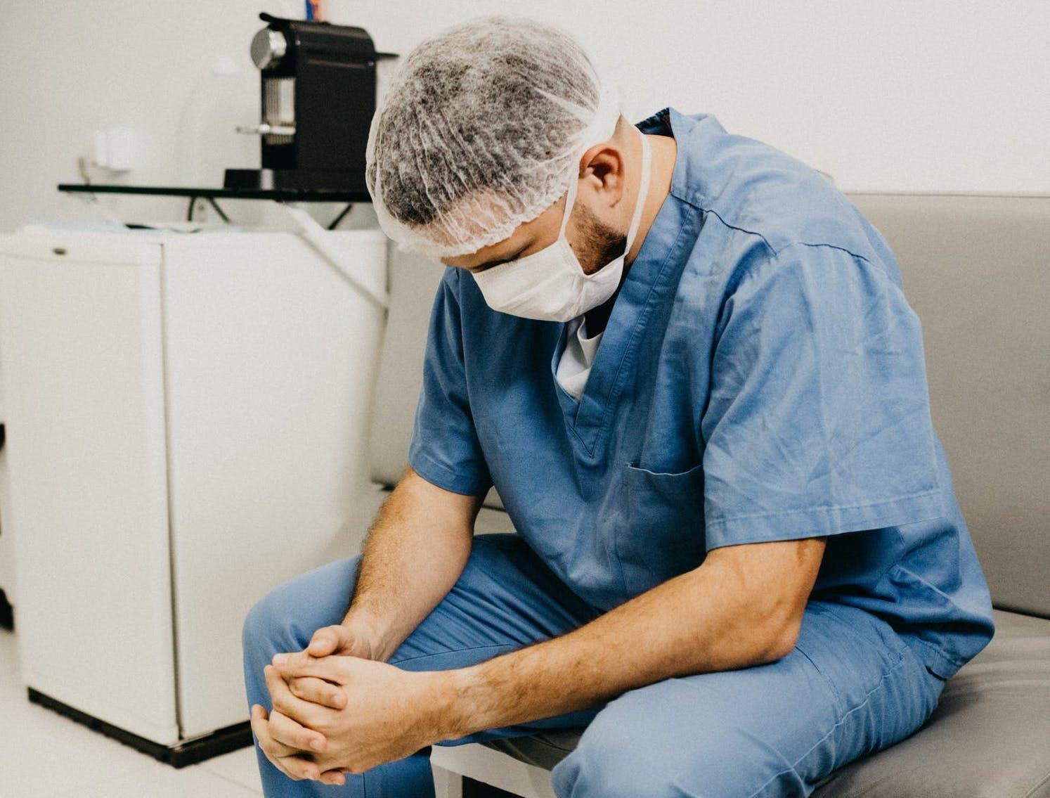 Overwhelmed NHS Doctor